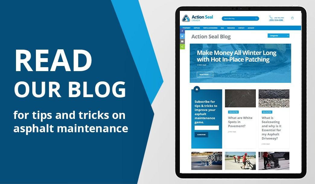 Action Seal Blog for Asphalt Maintenance Tips
